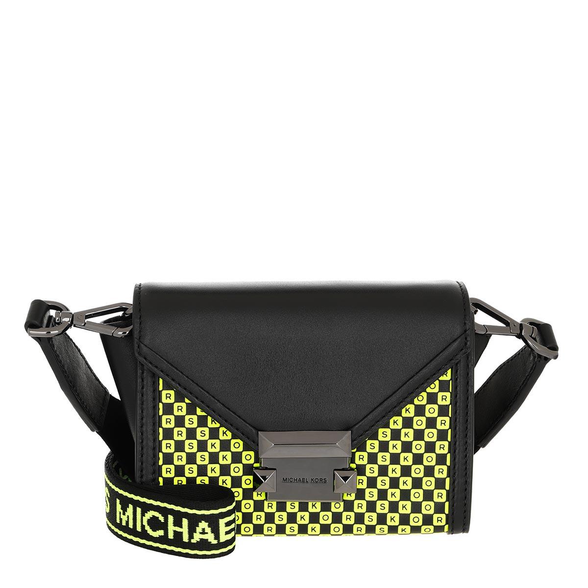 Michael Kors Umhängetasche - Whitney Xs Belt Bag Black/Neon Yellow - in schwarz - für Damen
