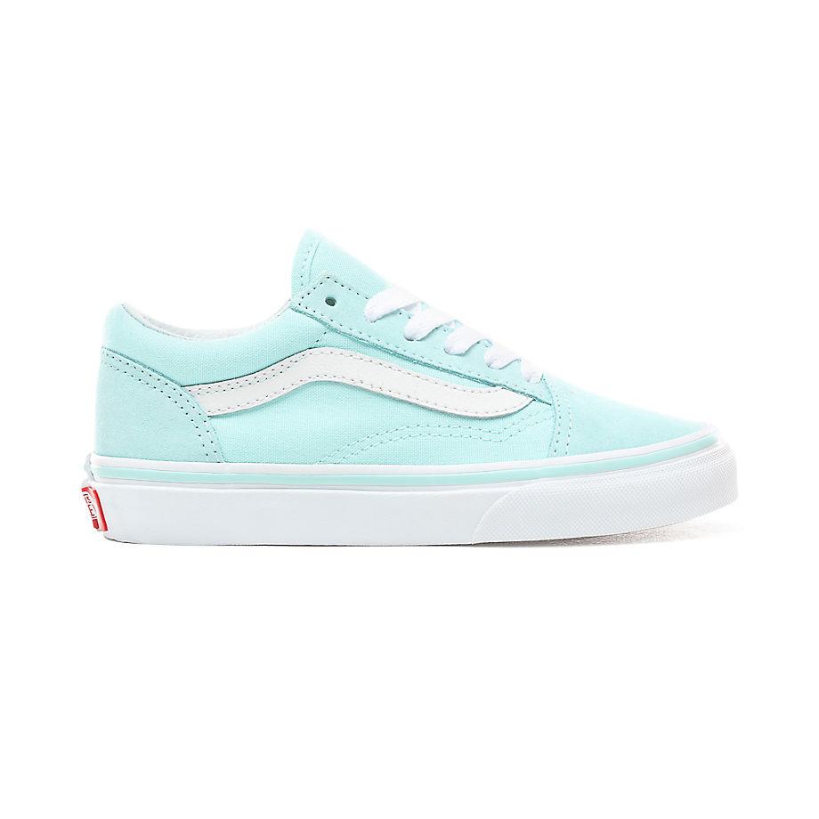 VANS Kinder Old Skool Schuhe (5+ Jahre) (blue Tint/true White) Kinder Weiß, Größe 31