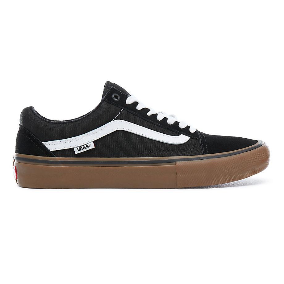 VANS Old Skool Pro Schuhe (black-white-gum) Damen Weiß, Größe 40.5