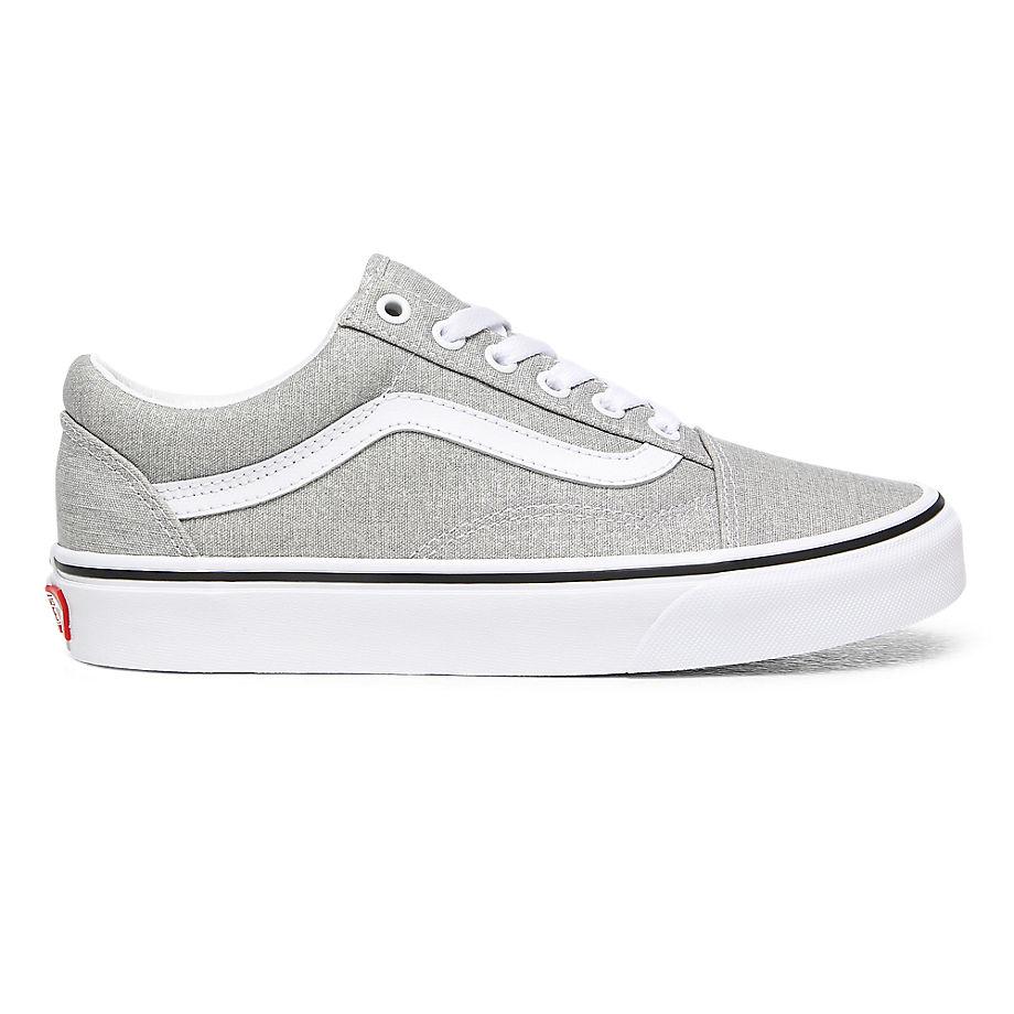 VANS Old Skool Schuhe (silver/true White) Damen Weiß, Größe 43