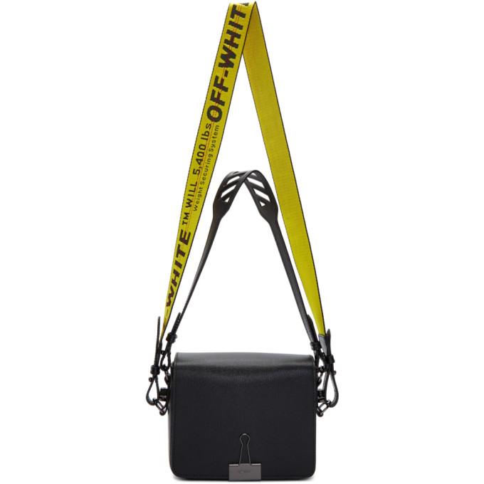 Off-White SSENSE Exclusive Black Flap Bag