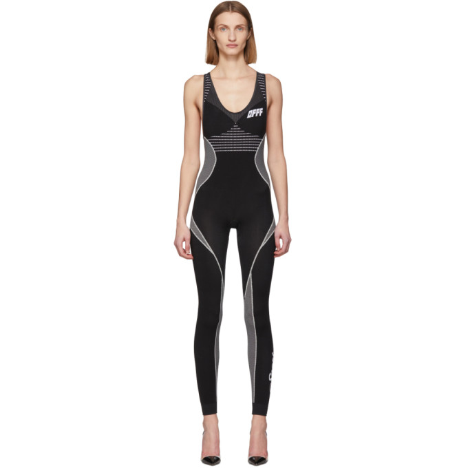 Off-White SSENSE Exclusive Black and White Athletic Jumpsuit