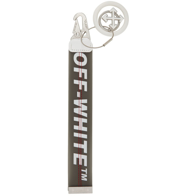 Off-White SSENSE Exclusive White and Grey PVC Keychain