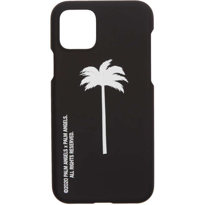 Palm Angels Black and White Palm x Palm iPhone XI Pro Case