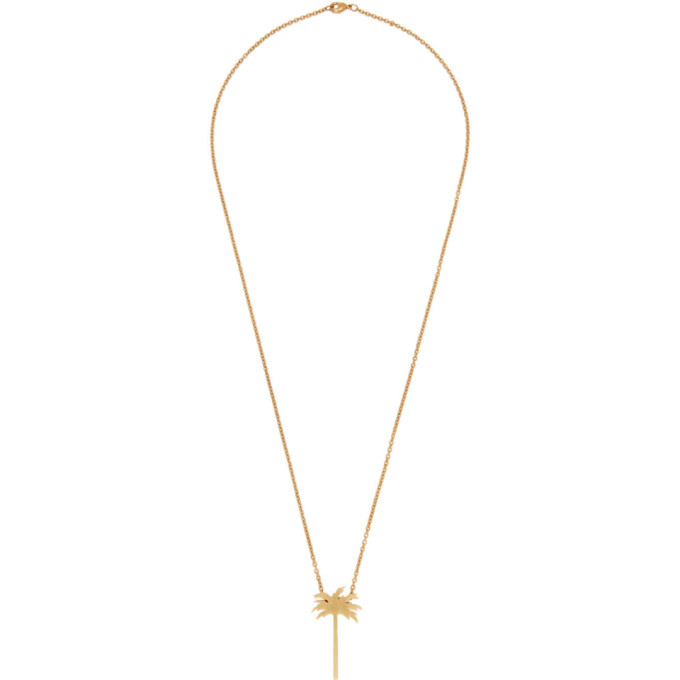 Palm Angels Gold Palm Tree Necklace