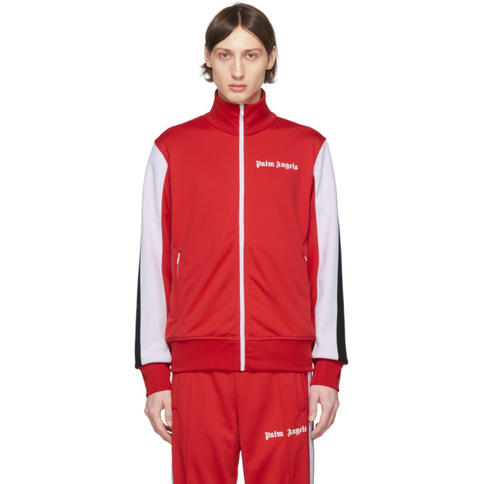 Palm Angels Red Side Band Track Jacket