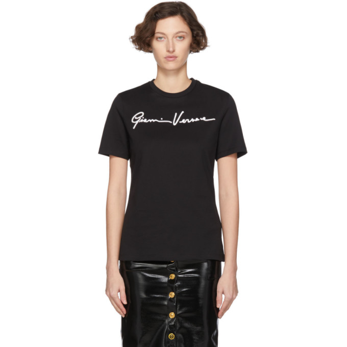 Versace Black Gianni Versace Embroidered T-Shirt