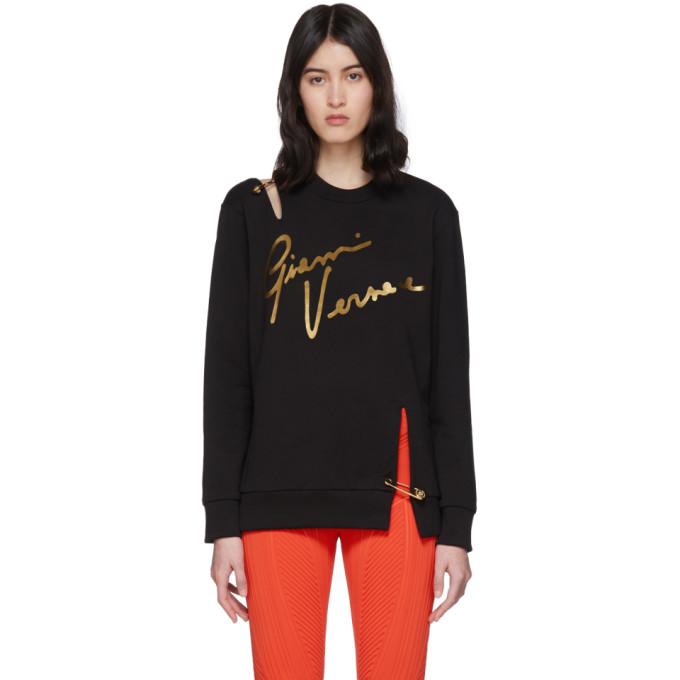 Versace Black Pin Signature Sweatshirt