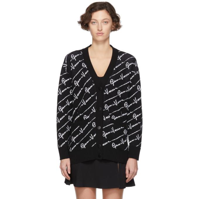 Versace Black Wool Gianni Versace Cardigan