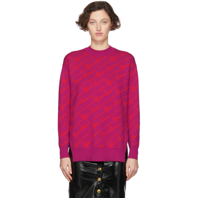 Versace Pink Wool Gianni Versace Sweater