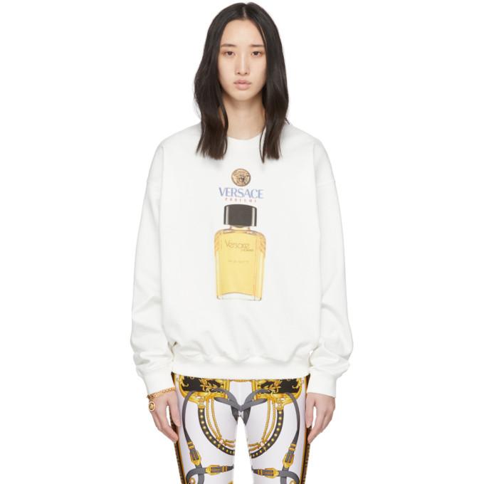 Versace White Eau de Toilette Sweatshirt