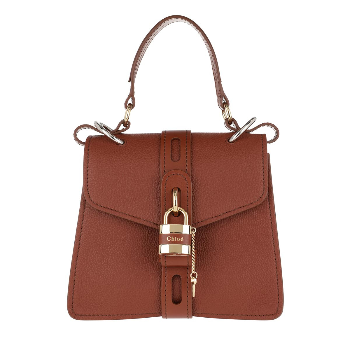 Chloé Satchel Bag - Aby Shoulder Bag Leather Sepia Brown - in braun - für Damen
