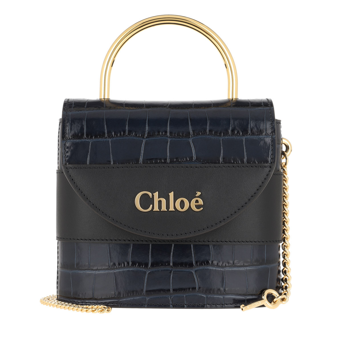 Chloé Umhängetasche - Aby Shoulder Bag Leather Full Blue - in blau - für Damen