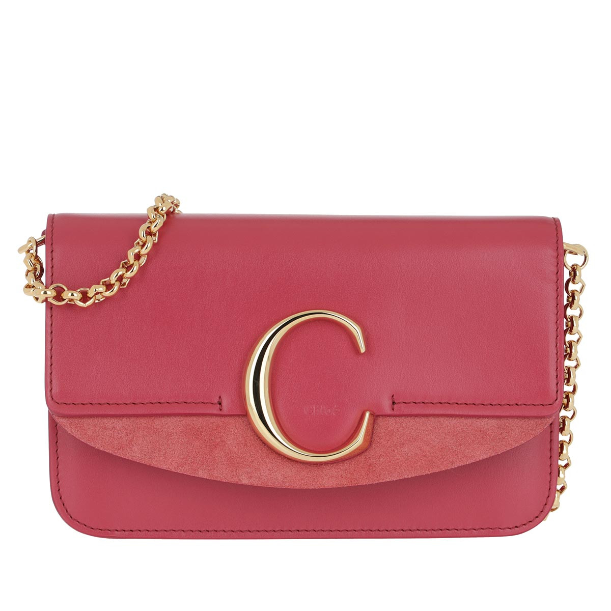 Chloé Umhängetasche - C Clutch With Chain Scarlet Pink - in pink - für Damen
