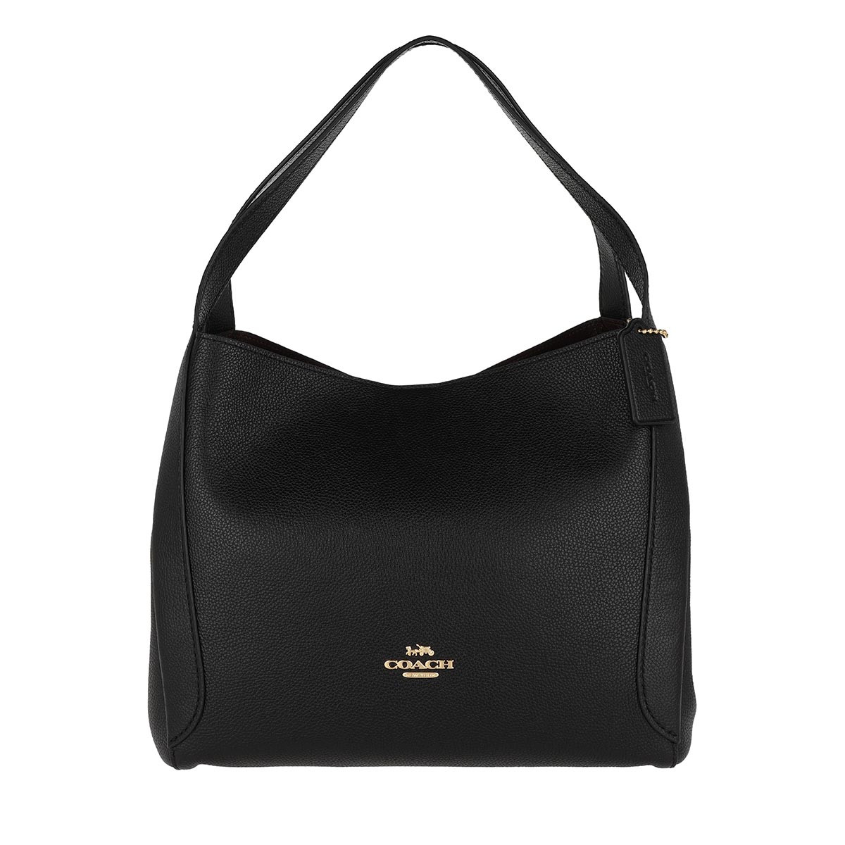 Coach Hobo Bag - Polished Pebble Leather Hadley Hobo Bag Black - in schwarz - für Damen