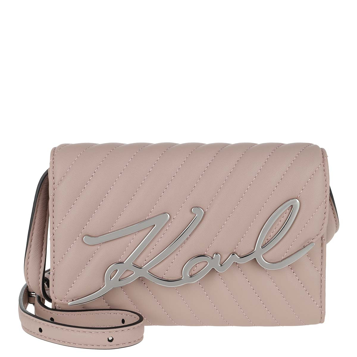 Karl Lagerfeld Gürteltasche - Signature Stitch Belt Bag Powder Pink - in rosa - für Damen