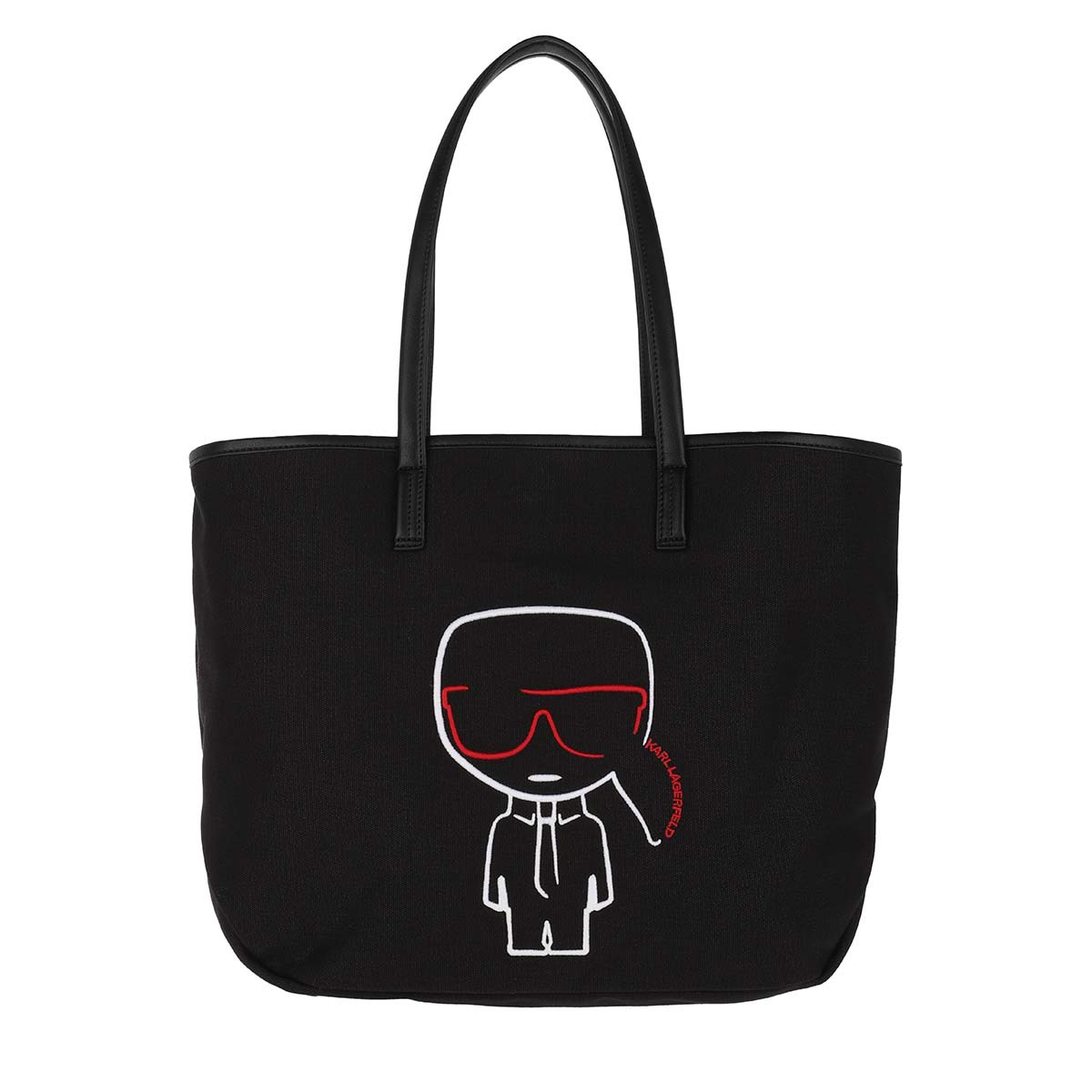 Karl Lagerfeld Shopper - Ikonik Canvas Shopper Black - in schwarz - für Damen