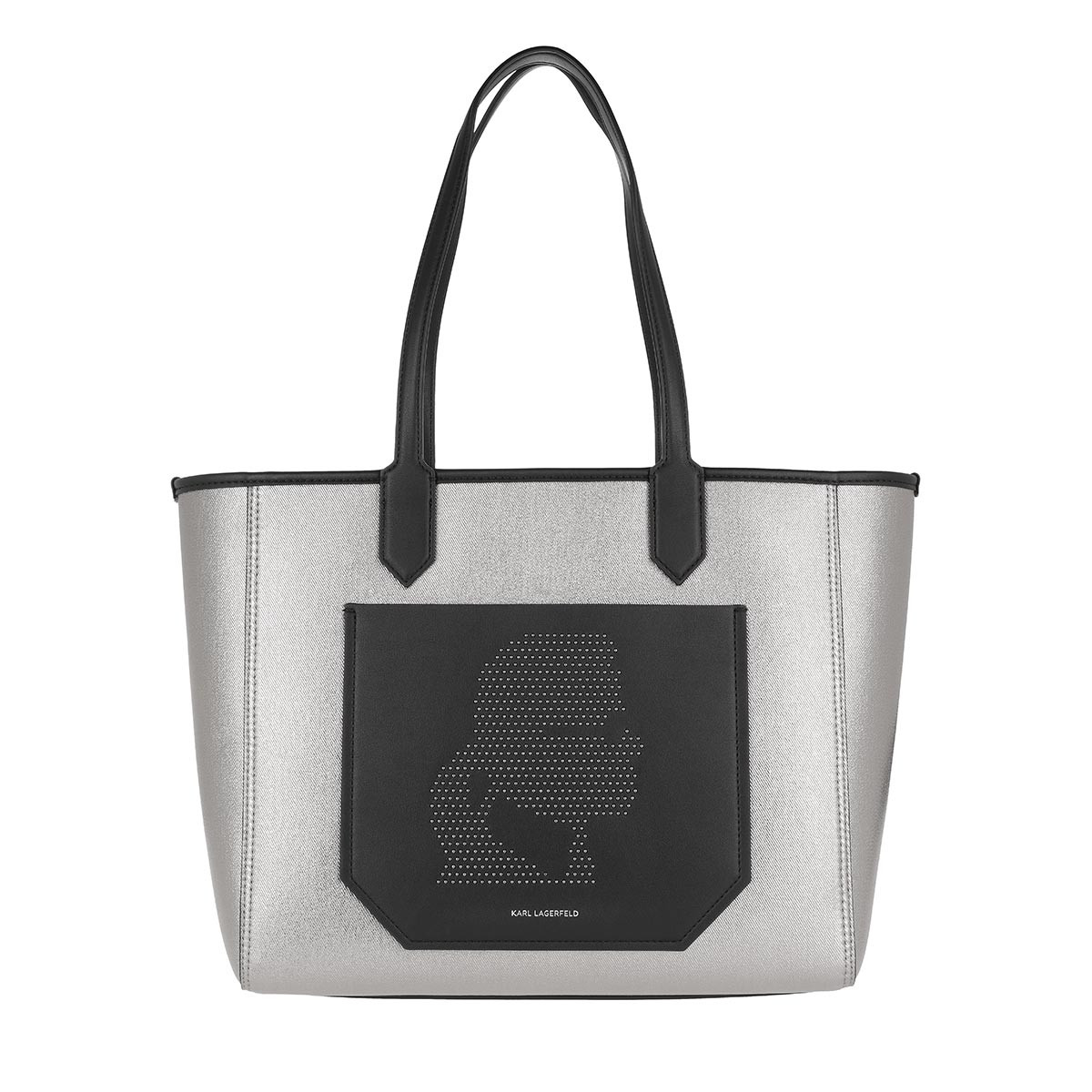 Karl Lagerfeld Shopper - Journey Tote Nylon Metallic Black - in grau - für Damen