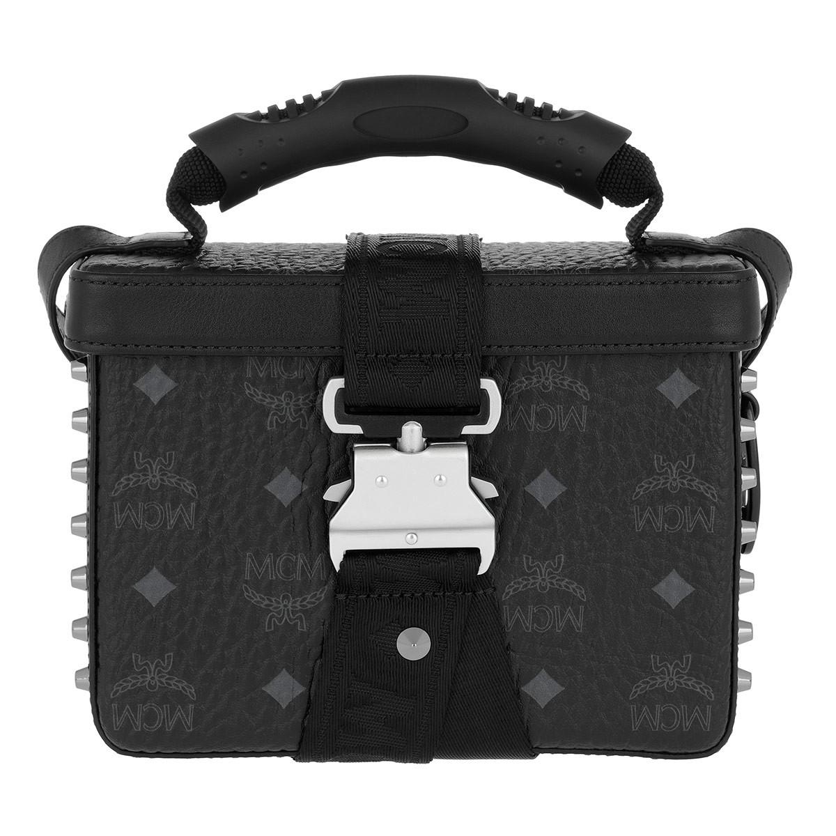 MCM Umhängetasche - Jemison Visetos Crossbody Small Black - in schwarz - für Damen