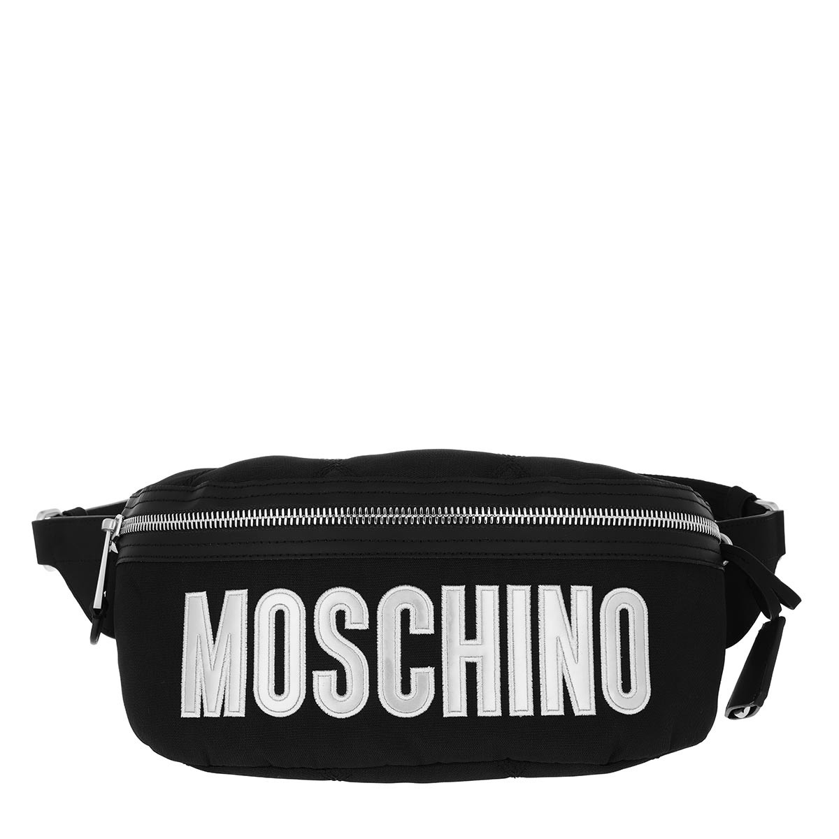 Moschino Gürteltasche - Belt Bag Nylon Logo Fantasy Print Black - in schwarz - für Damen