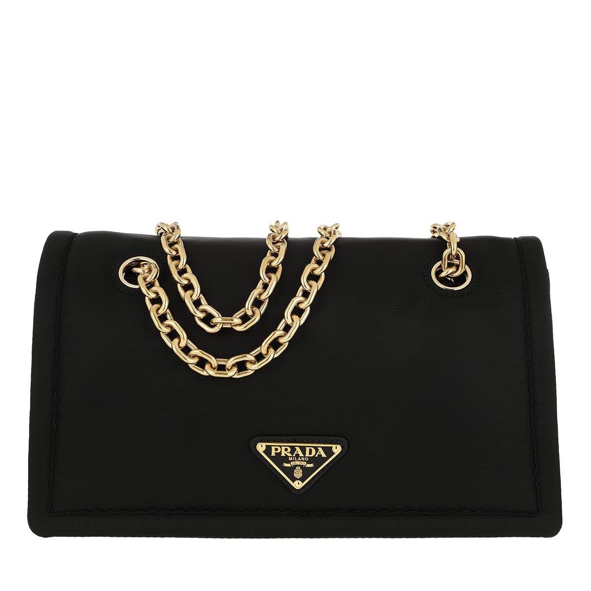Prada Umhängetasche - Logo Shoulder Bag Nylon Black - in schwarz - für Damen