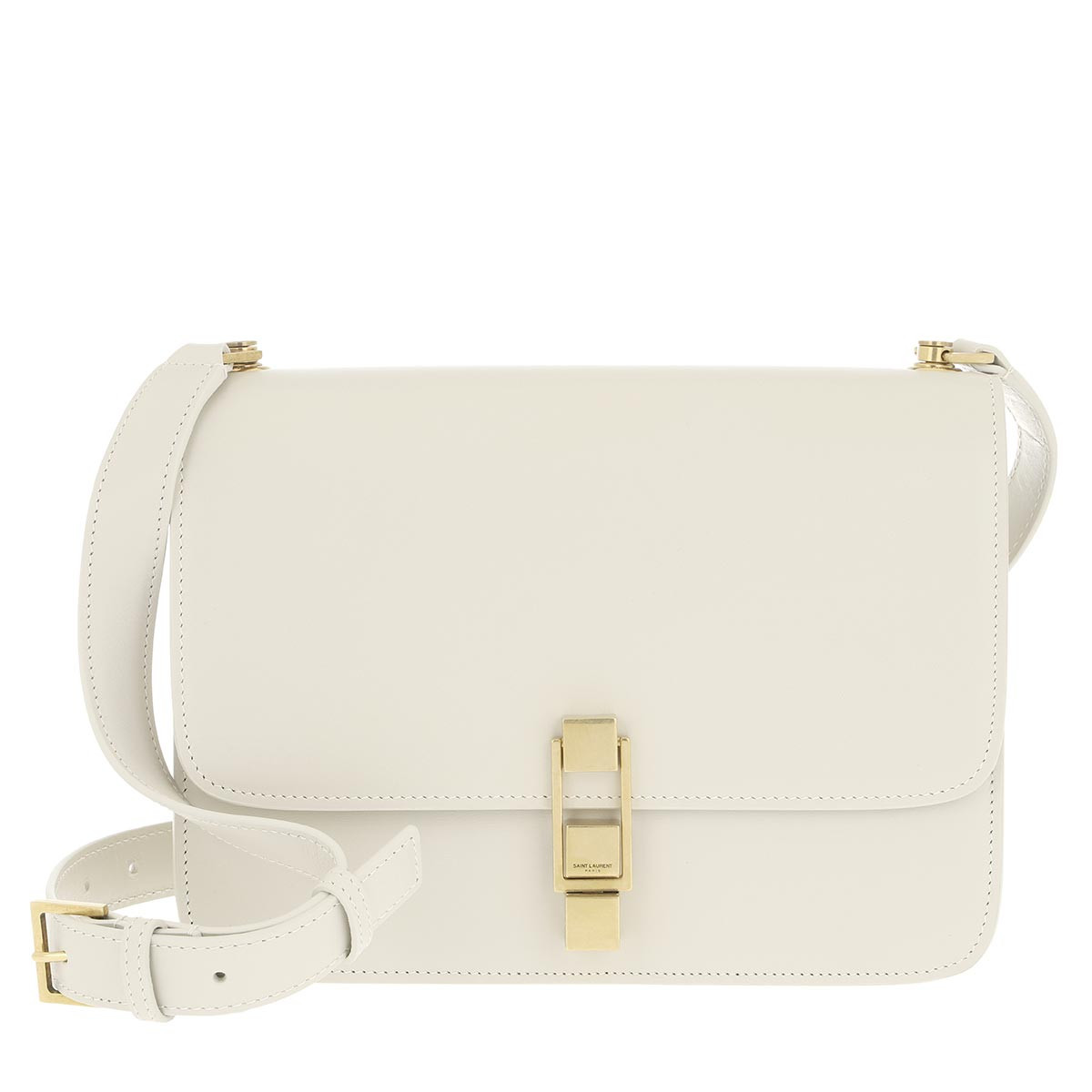 Saint Laurent Umhängetasche - Carre Satchel Smooth Leather Blanc Vintage - in weiß - für Damen