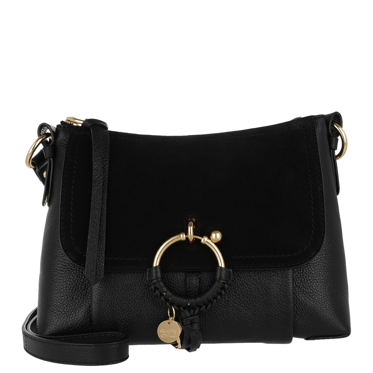 See By Chloé Umhängetasche - Joan Grained Shoulder Bag Leather Black - in schwarz - für Damen