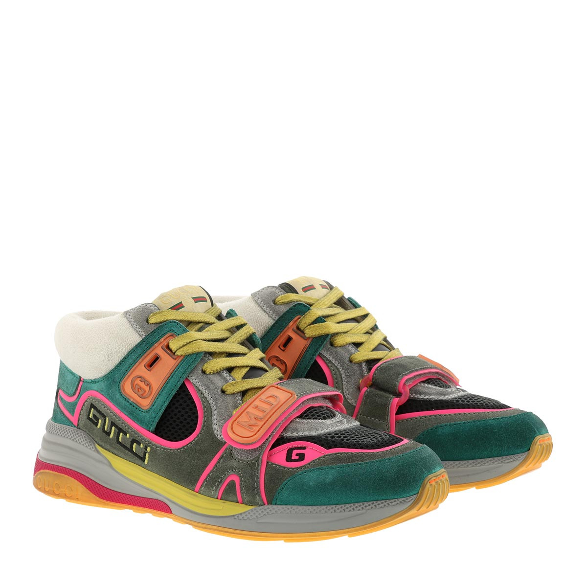 Gucci Sneakers - Ultrapace Mid Top Sneaker Leather Multi - in bunt - für Damen