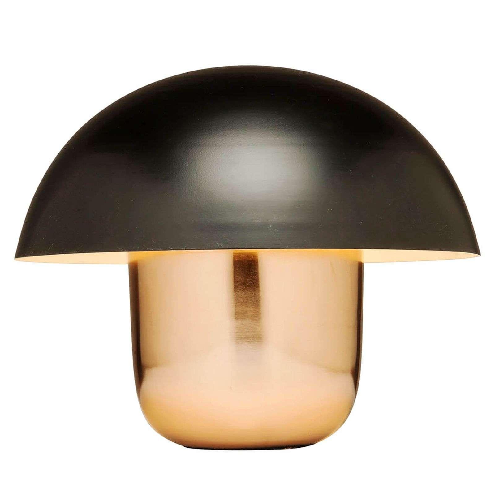 KARE Mushroom - Tischlampe, Pilz, kupfer-schwarz