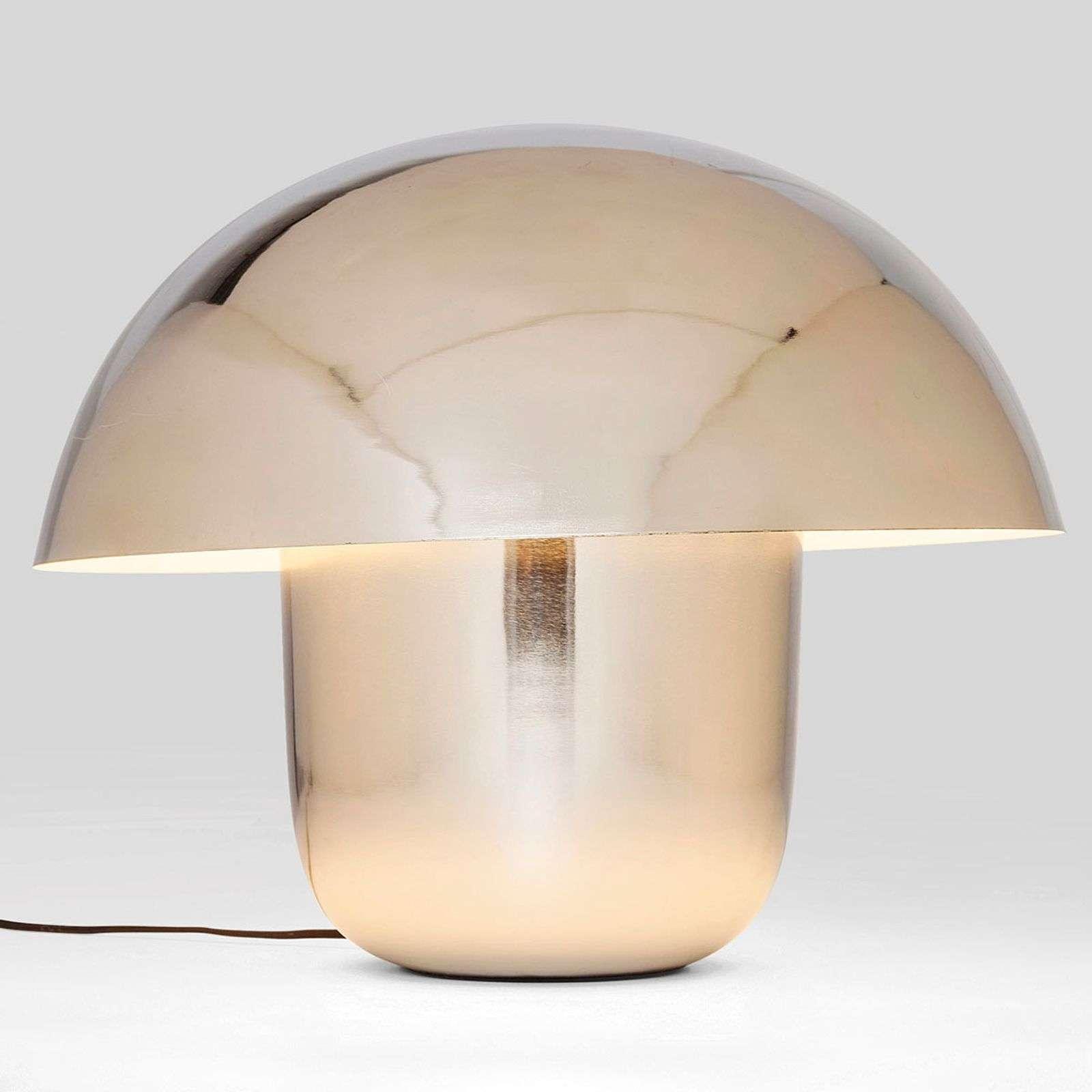 KARE Mushroom - Tischlampe in Pilzform, chrom