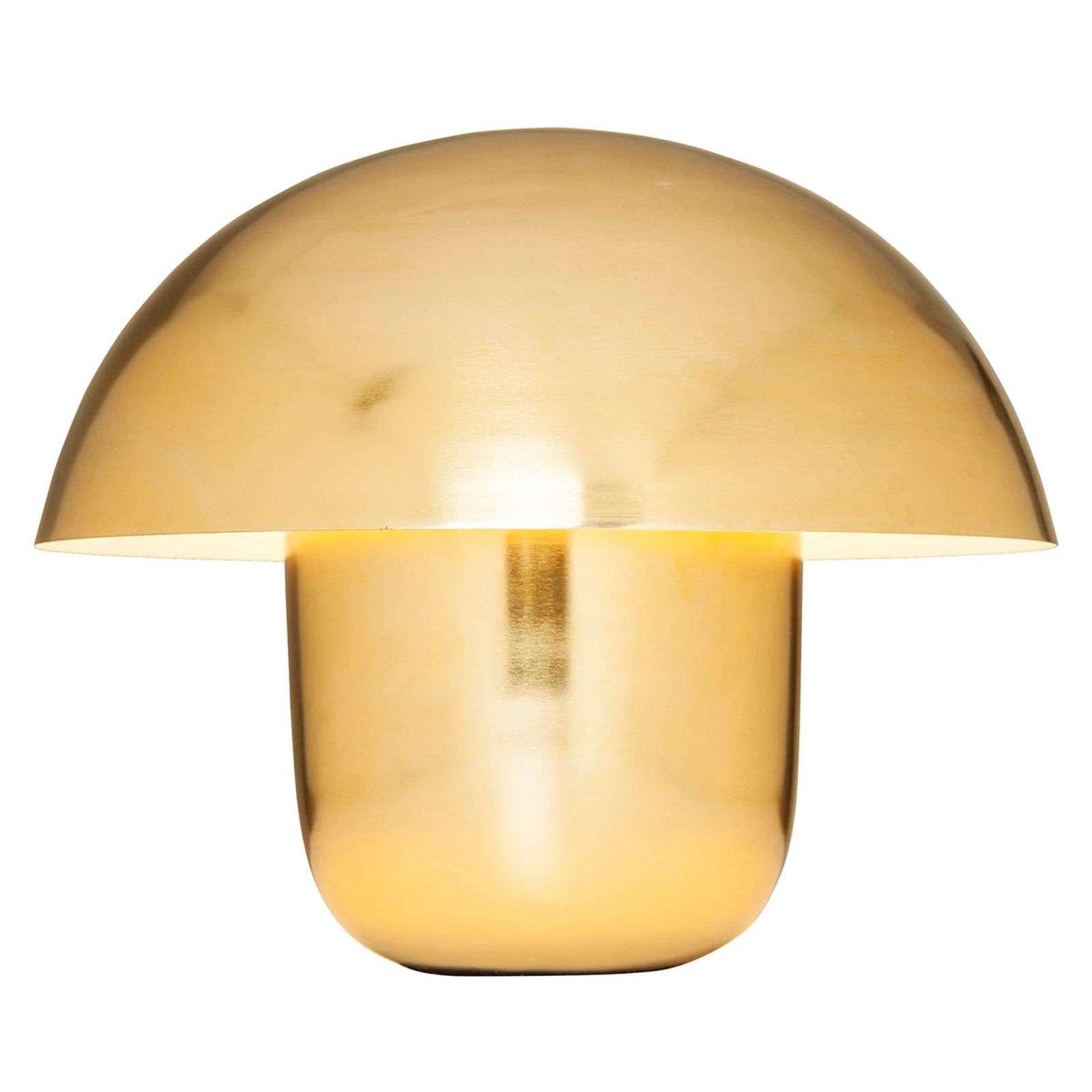 KARE Mushroom - Tischlampe in Pilzform, gold