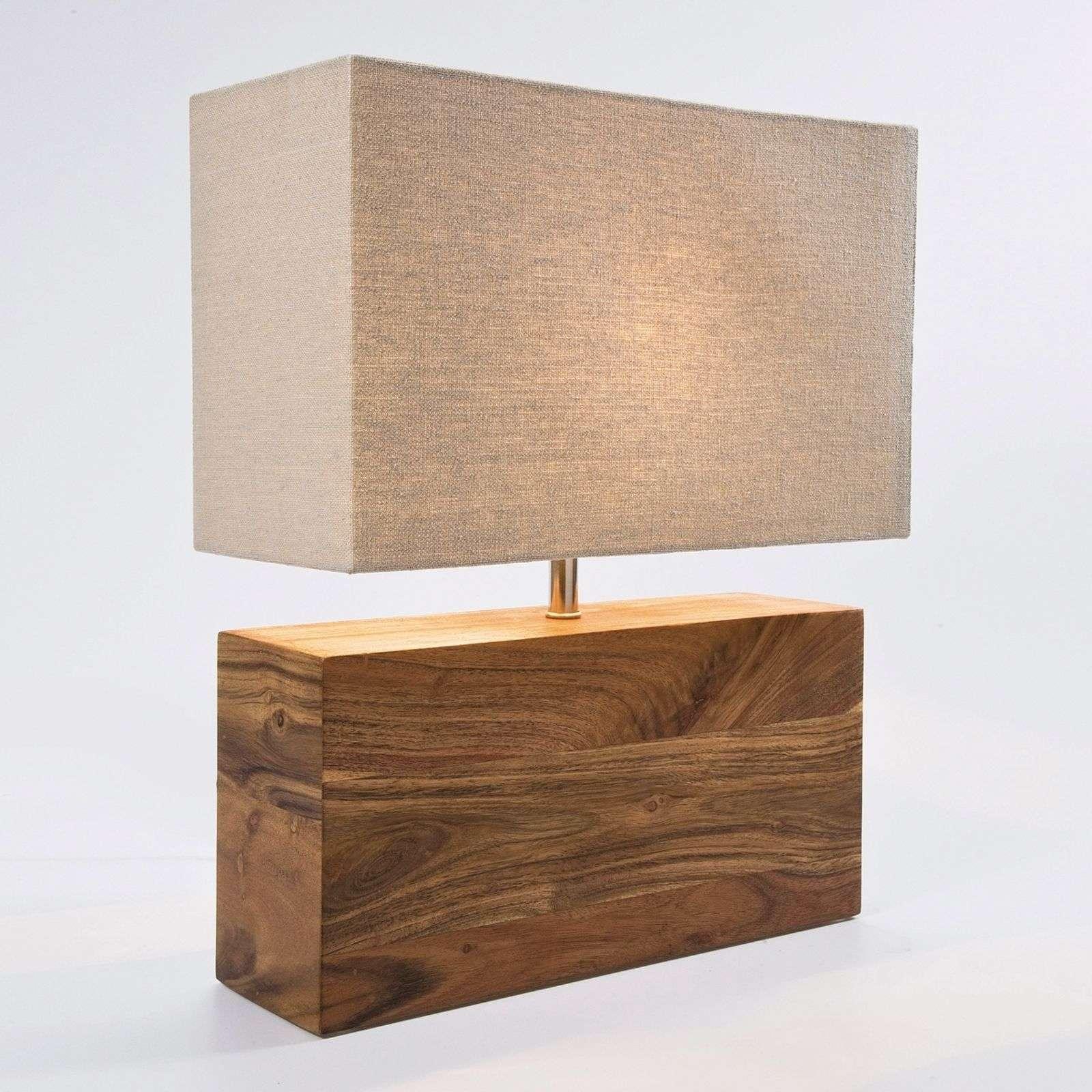 KARE Rectangular Wood - Holzfuß-Tischleuchte
