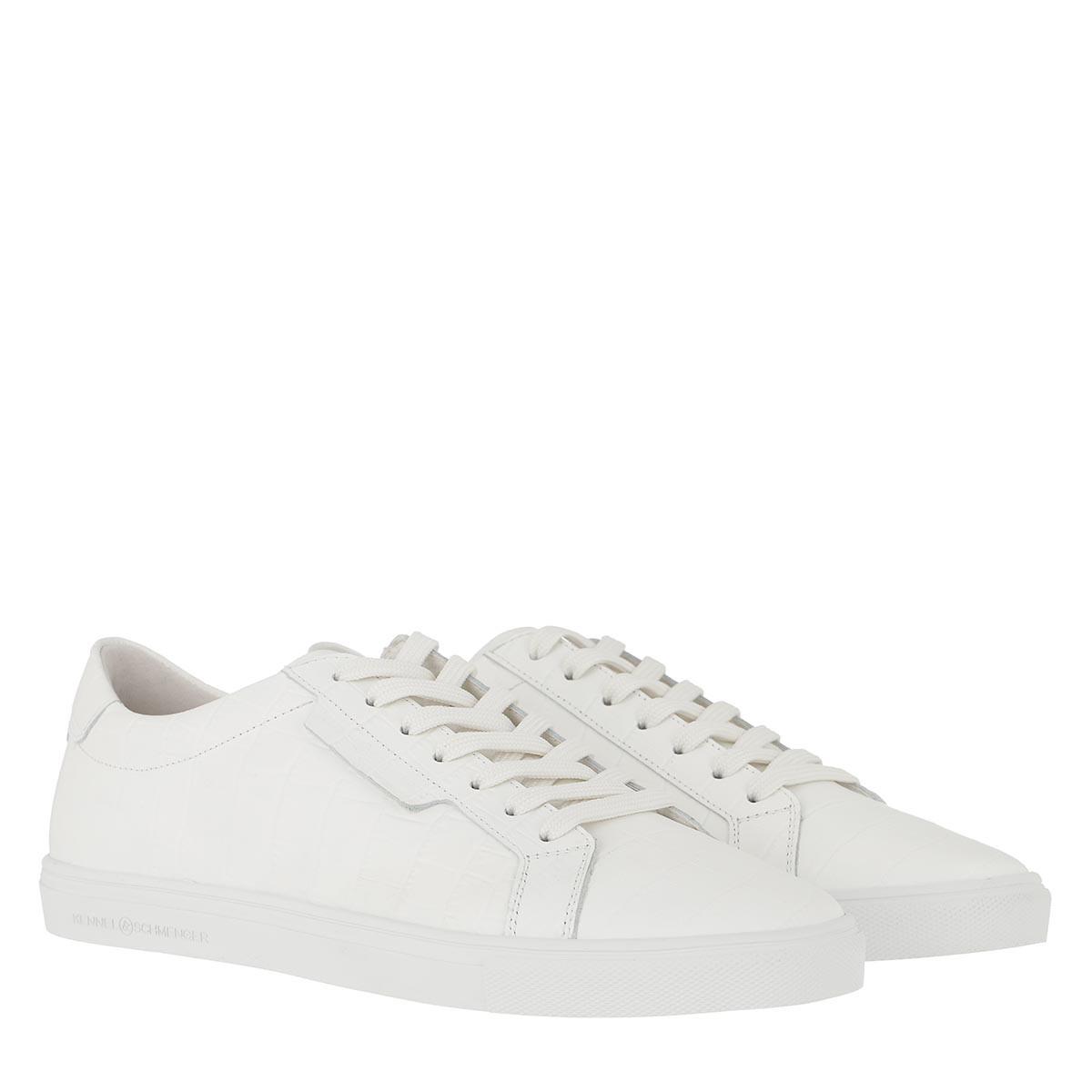 Kennel & Schmenger Sneakers - Base Sneaker Kroko White - in weiß - für Damen