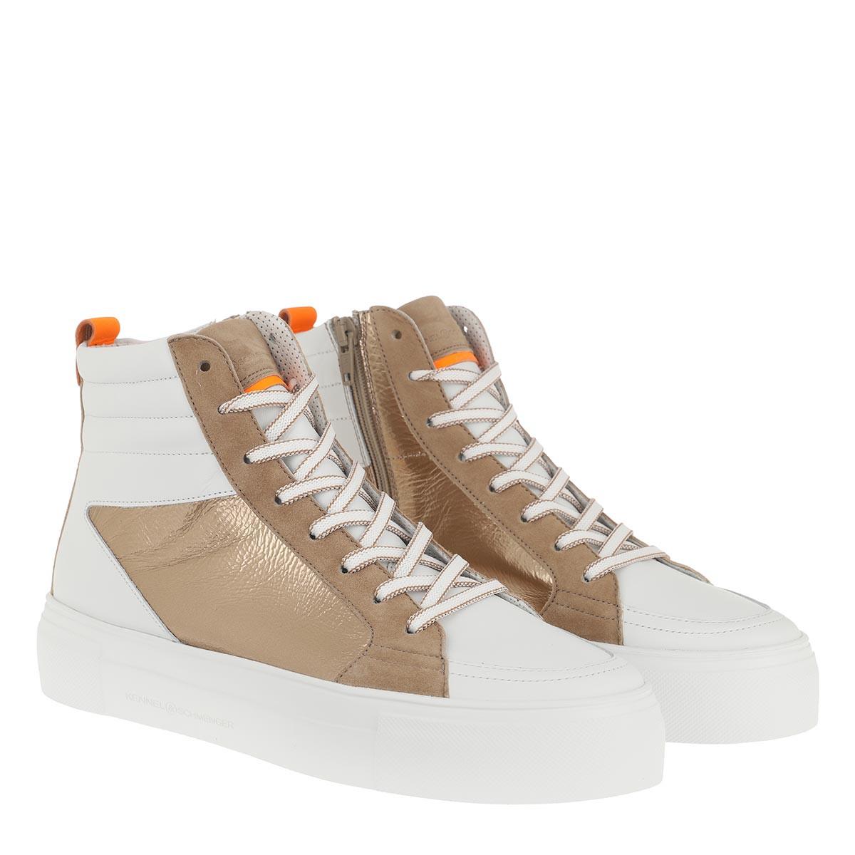 Kennel & Schmenger Sneakers - Big High Top Sneaker White/Gold - in bunt - für Damen