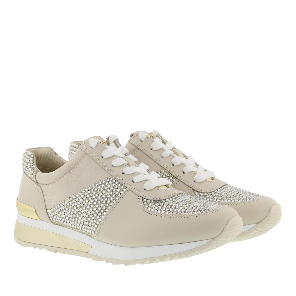 Michael Kors Sneakers - Allie Wrap Trainer Sneaker Pale Gold - in beige - für Damen