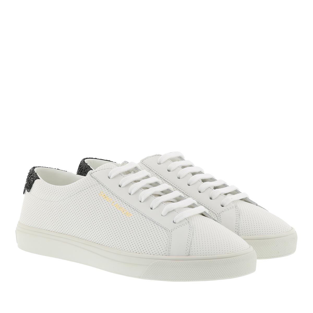 Saint Laurent Sneakers - Andy Sneaker Perforated Leather White - in weiß - für Damen