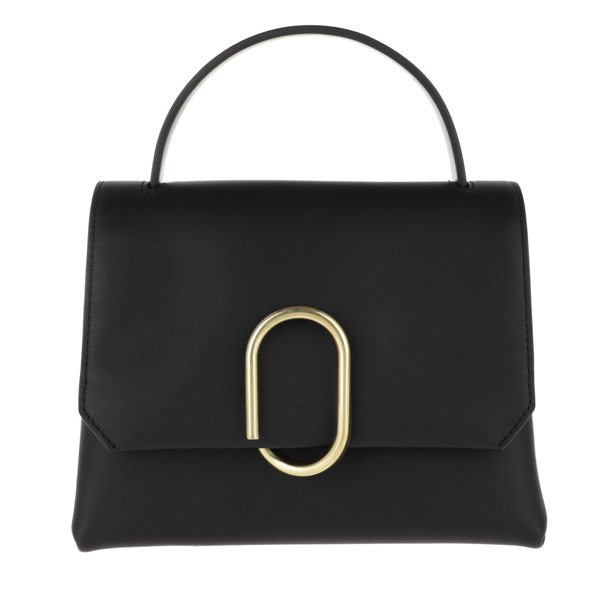 3.1 Phillip Lim Satchel Bag - Alix Mini Top Handle Satchel Black Brass - in schwarz - für Damen