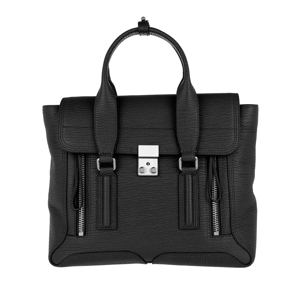 3.1 Phillip Lim Tote - Pashli Medium Satchel Black/Nickel - in schwarz - für Damen