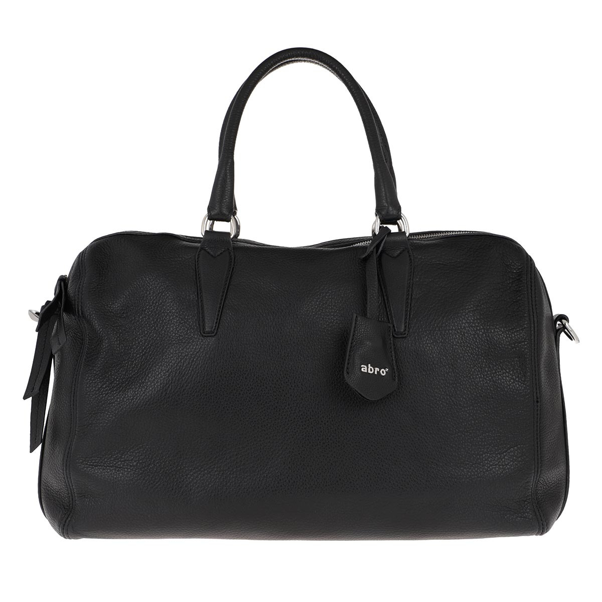 Abro Bowling Bag - Handle Bag Kim Big Black/Nickel - in schwarz - für Damen