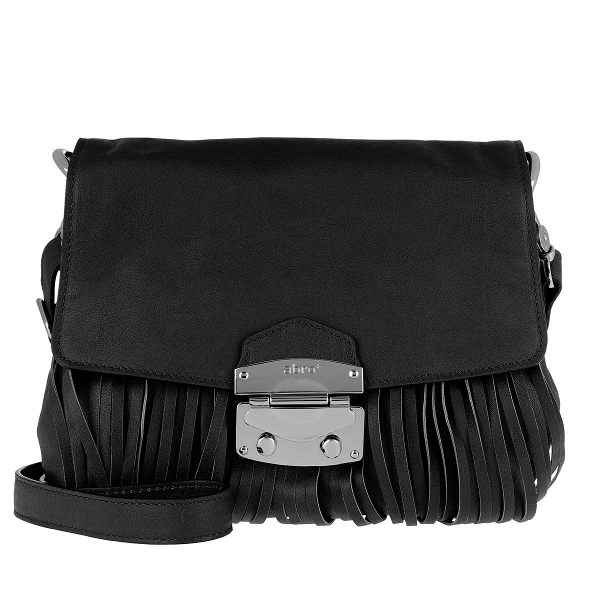 Abro Satchel Bag - Manolete Shoulder Bag Black/Nickel - in schwarz - für Damen