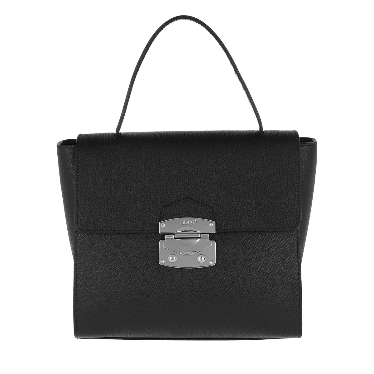 Abro Satchel Bag - Pamellato Handle Bag Black/Nickel - in schwarz - für Damen