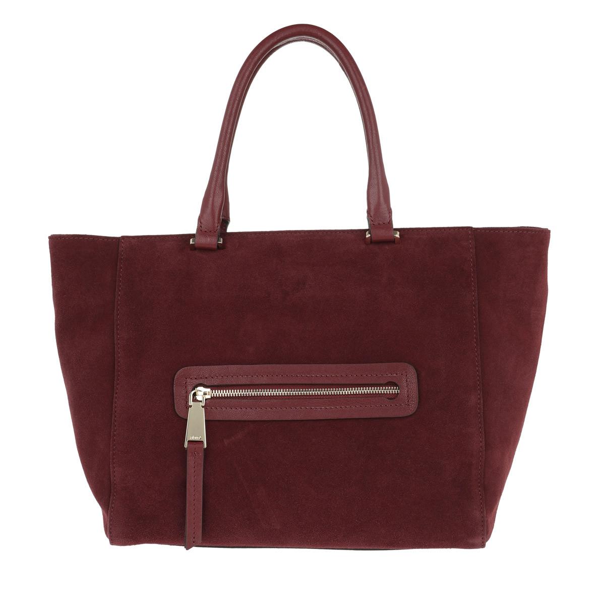 Abro Tote - Suede Handle Shopper Rust - in rot - für Damen
