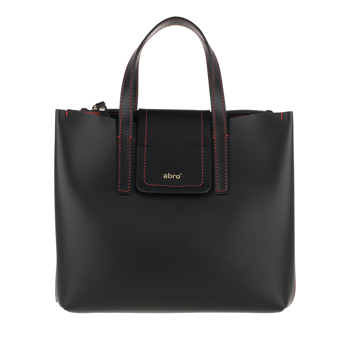 Abro Umhängetasche - Calf Carmen Handle Bag Black/Red - in schwarz - für Damen