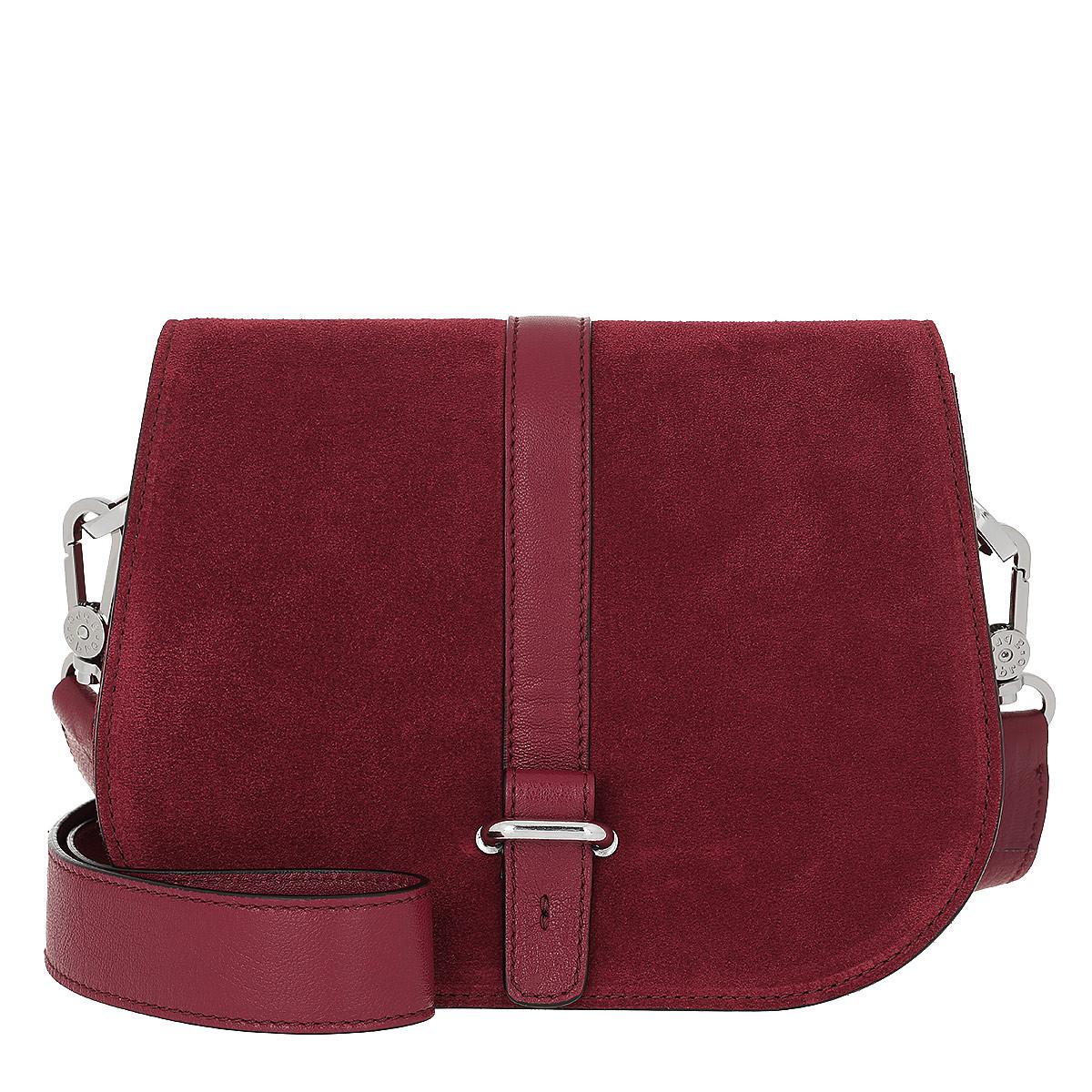 Abro Umhängetasche - Suede Crossbody Bag Ruby - in rot - für Damen