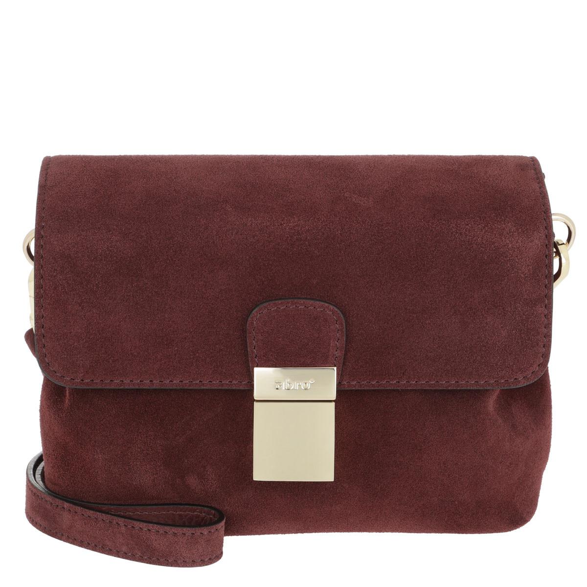 Abro Umhängetasche - Suede Crossbody Bag Small Rust - in rot - für Damen