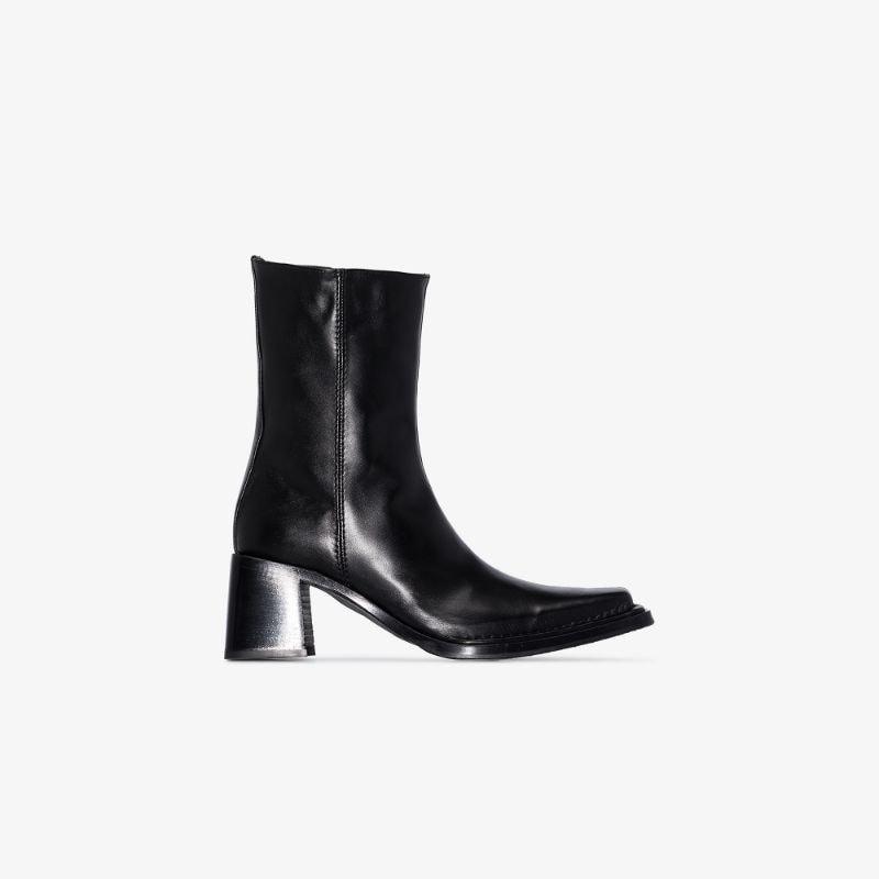 Acne Studios black Brannon 70 leather boots
