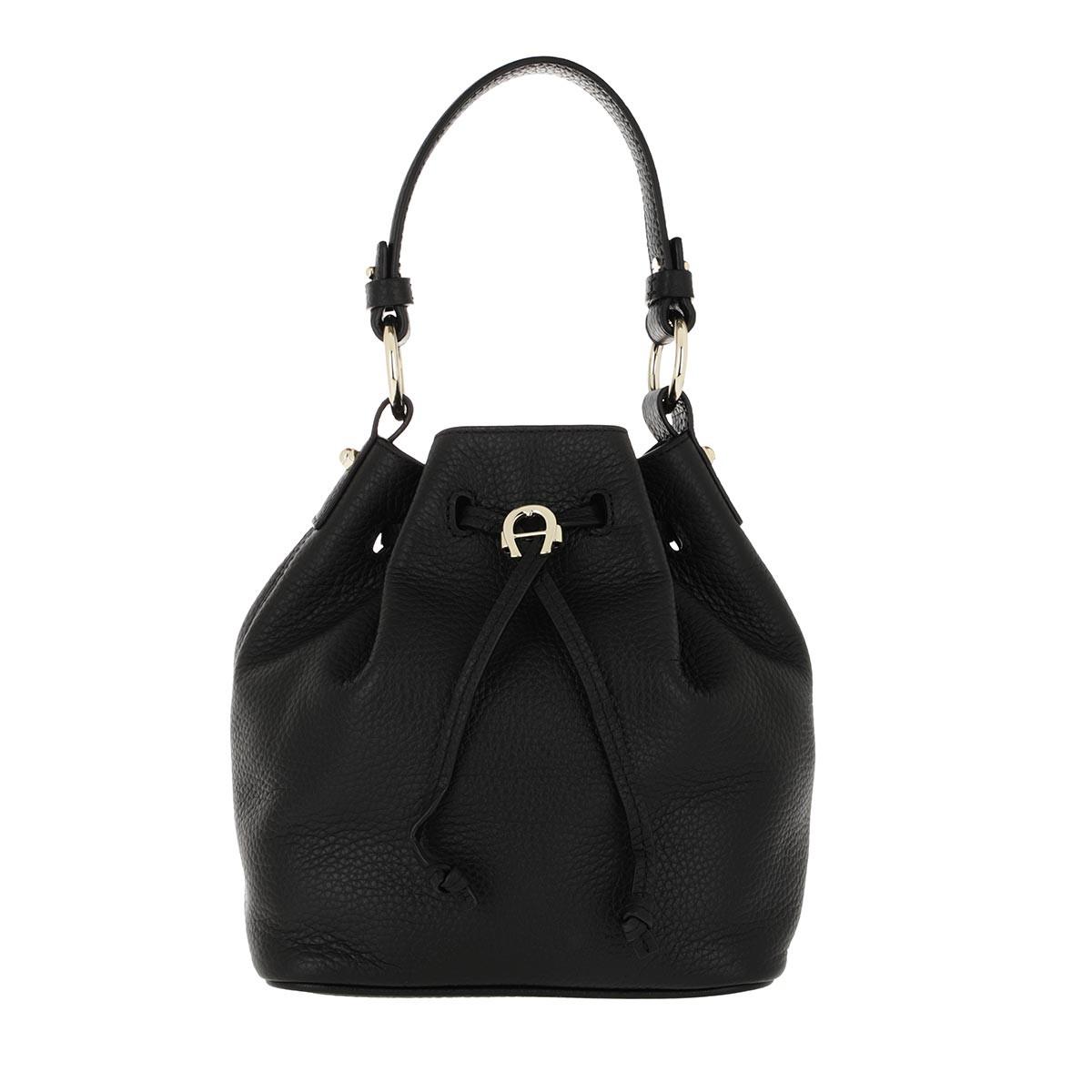 Aigner Beuteltasche - Tara Bucket Bag Black - in schwarz - für Damen