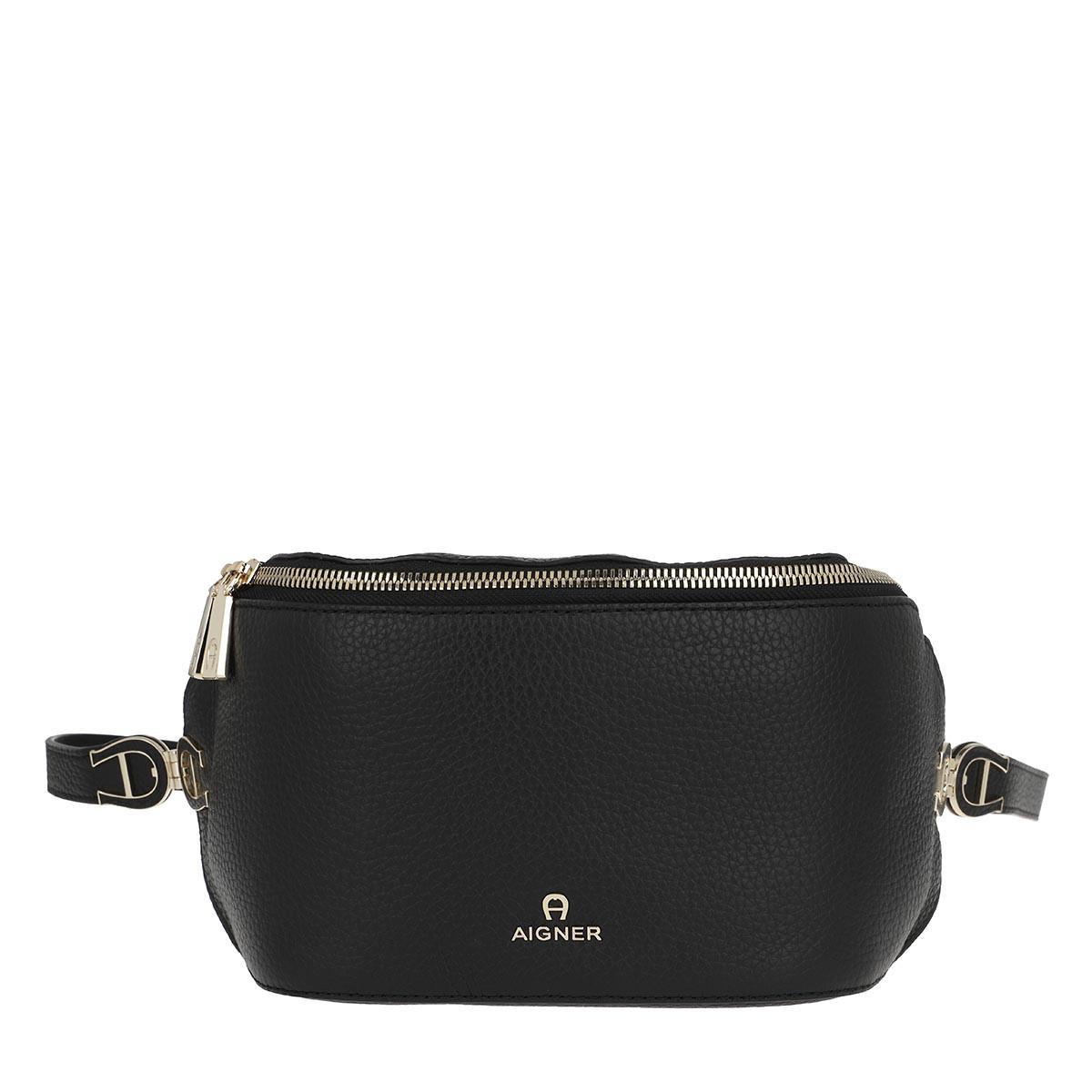 Aigner Gürteltasche - Milano Belt Bag Black - in schwarz - für Damen