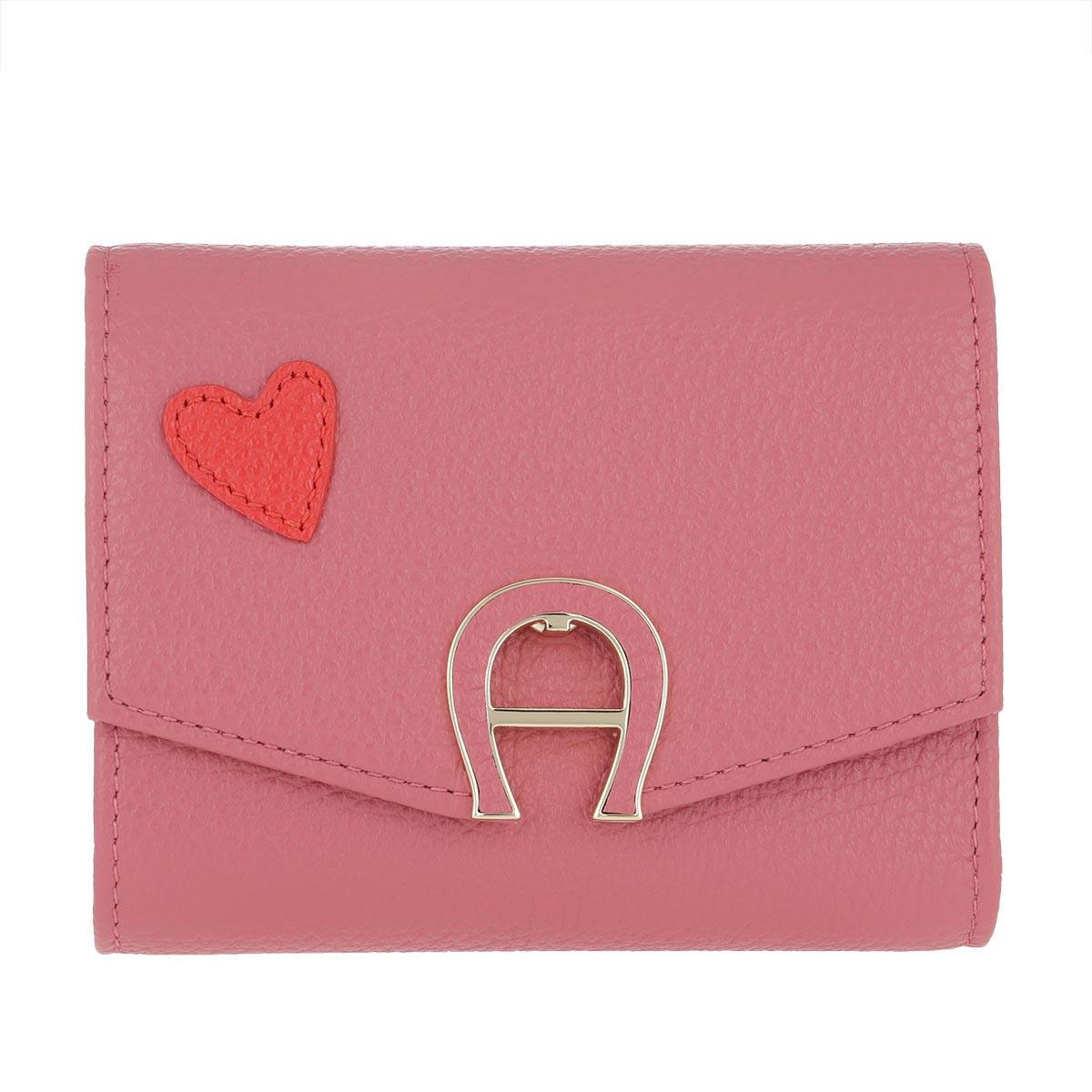 Aigner Portemonnaie - Heart Fashion Wallet Dusty Rose - in pink - für Damen