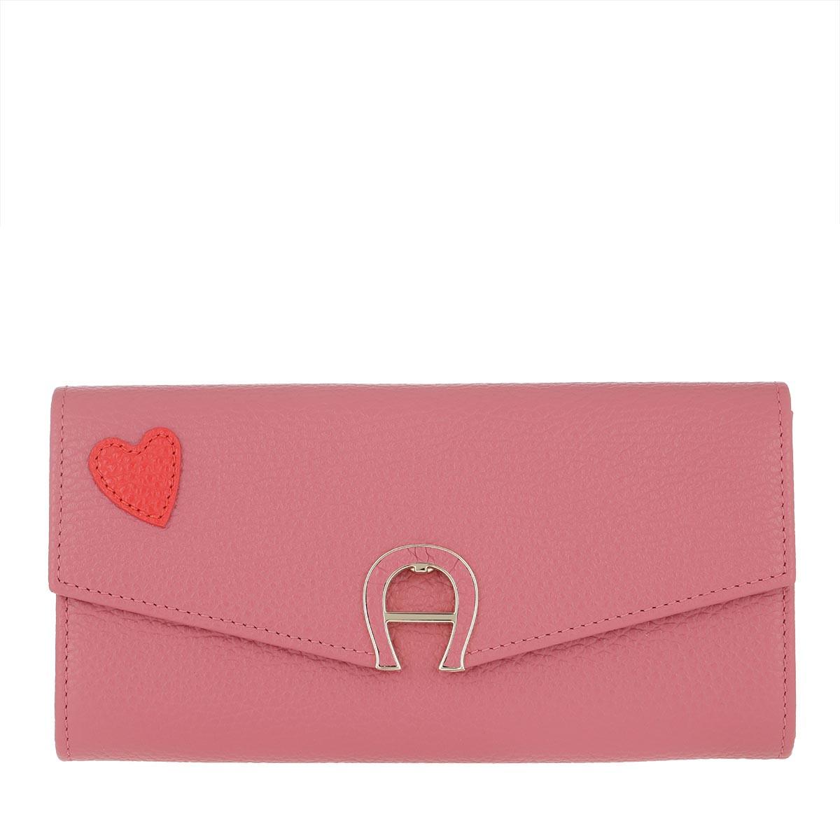 Aigner Portemonnaie - Heart Logo Purse Dusty Rose - in pink - für Damen